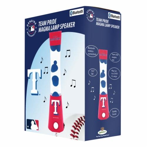 Texas Rangers Team Pride Magma Lamp Speaker Perspective: front