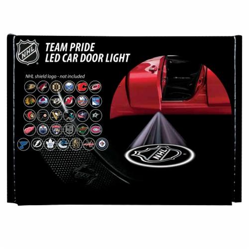 NHL Carolina Hurricanes Team Pride LED Car Door Light Perspective: front