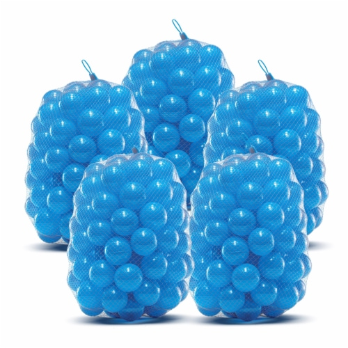 Upper Bounce Crush Proof Plastic Trampoline Pit Balls 500 Pack - Blue Perspective: front