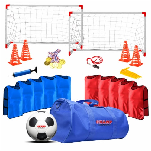 Champ Celebrations® All-In-One Kids Soccer Practice Set Perspective: front