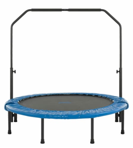 Upper Bounce Mini Foldable Rebounder Fitness Trampoline with Adjustable Handrail Perspective: front