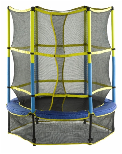 Upper Bounce Kid-Friendly Trampoline & Enclosure Set Perspective: front