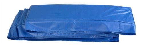 Super Spring Cover - Safety Pad, Fits 8 X 14 FT Rectangular Trampoline Frame - Blue Perspective: front