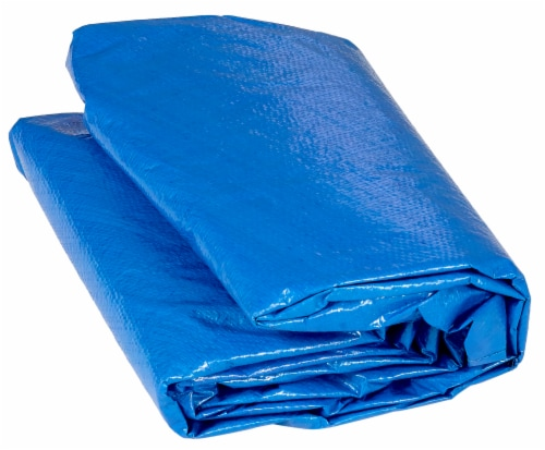 Weather-Resistant Protective Trampoline Cover, Fits 15 FT Round Frame - Blue Perspective: front
