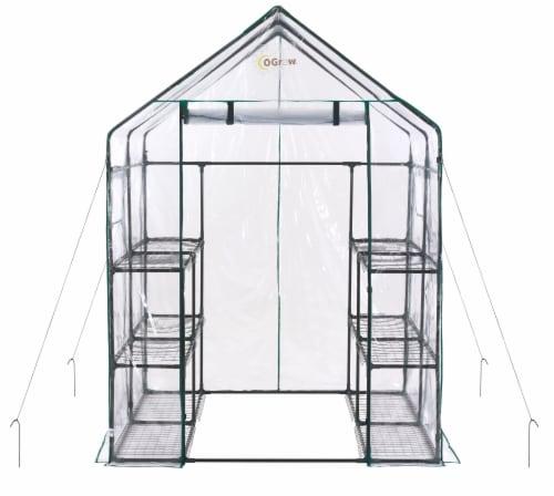Ogrow Deluxe Walk-In 6-Tier Portable Greenhouse Perspective: front