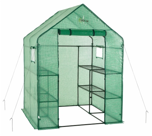 Ogrow Deluxe Walk-In Portable Lawn & Garden Greenhouse Perspective: front