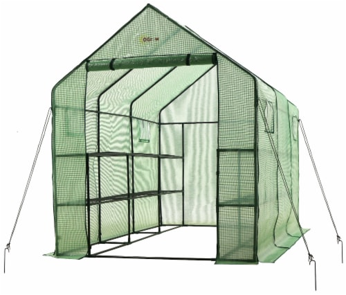 Ogrow Walk In 2 Tier 12 Shelf Portable Greenhouse Perspective: front