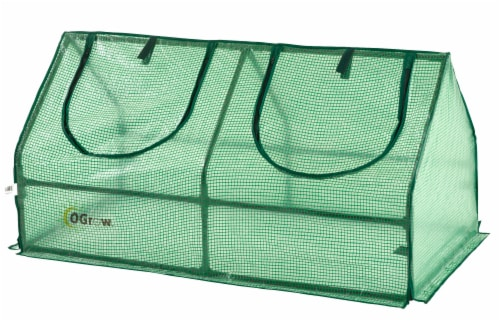 Ogrow Compact Outdoor Seed Starter Greenhouse Perspective: front