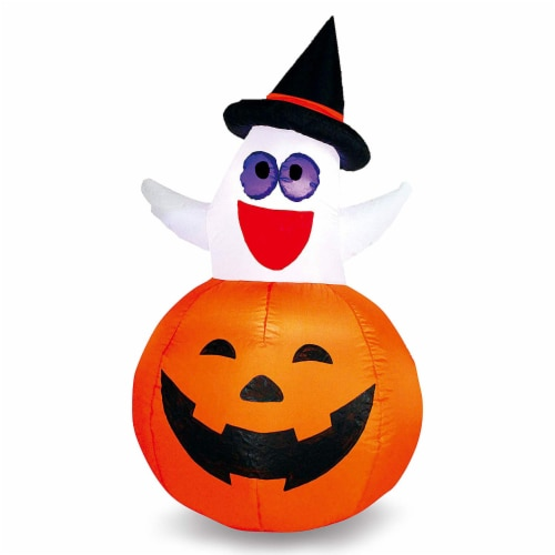 Joiedomi Halloween Inflatable Ghost in Pumpkin Decoration Perspective: front