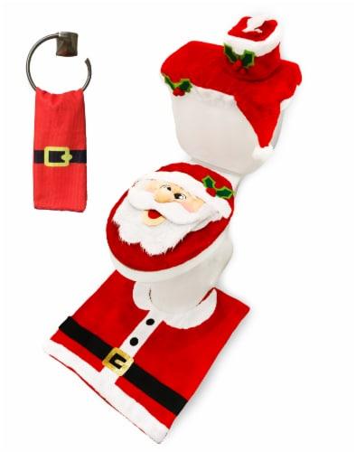 Joyin Christmas Toilet Seat Cover Set Perspective: front