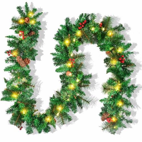 Joyin Deluxe Christmas Garland Perspective: front