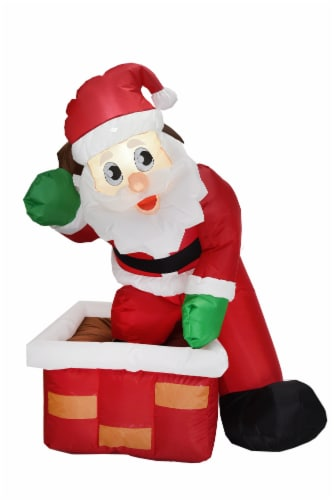 Joiedomi Inflatable Rooftop Santa Claus Perspective: front