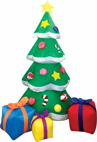 Joiedomi Christmas Tree with Presents Inflatable Perspective: front