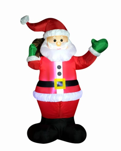 Joyin Christmas Inflatable Waving Santa Claus Perspective: front