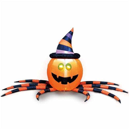 Joiedomi Halloween Pumpkin Spider Inflatable Perspective: front