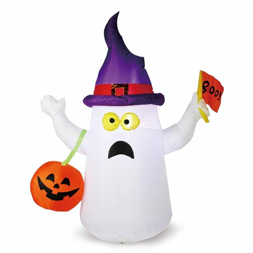 Joiedomi Halloween Naughty Ghost Inflatable Perspective: front