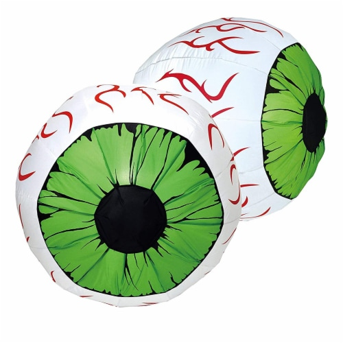 Joiedomi Halloween Inflatable Eyes Decoration Perspective: front