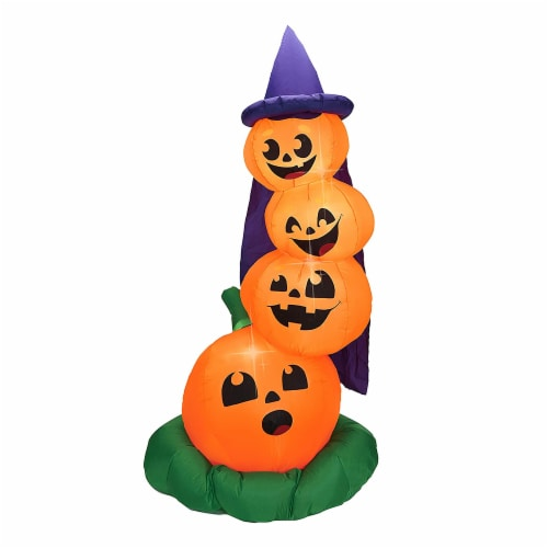 Joiedomi Halloween Stacked Pumpkins Inflatable Perspective: front