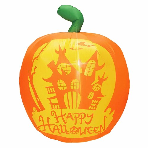 Joiedomi Halloween Panoramic Projection Pumpkin Inflatable Perspective: front