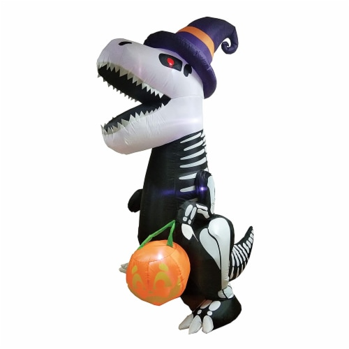 Joiedomi Halloween Skeleton Dinosaur Inflatable Perspective: front