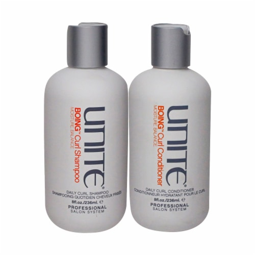 Unite Boing Curl Moisture Balance Shampoo & Conditioner Combo Pack Perspective: front