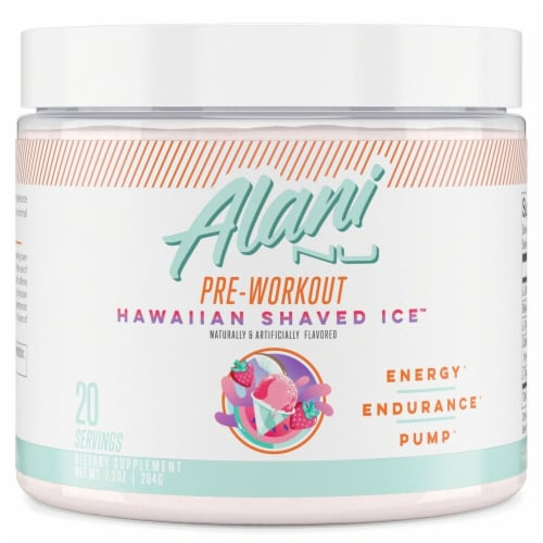 Alani NU Hawaiian Shaved Ice Pre-Workout Perspective: front