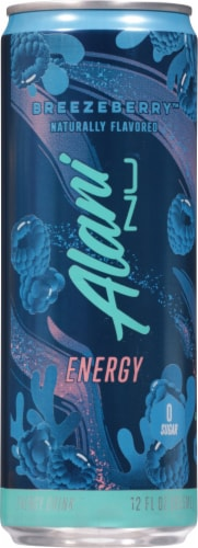Alani NU Breezeberry Energy Drink Perspective: front