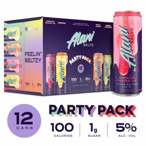 Alani Seltz Spiked Seltzer Variety Party Pack Perspective: front