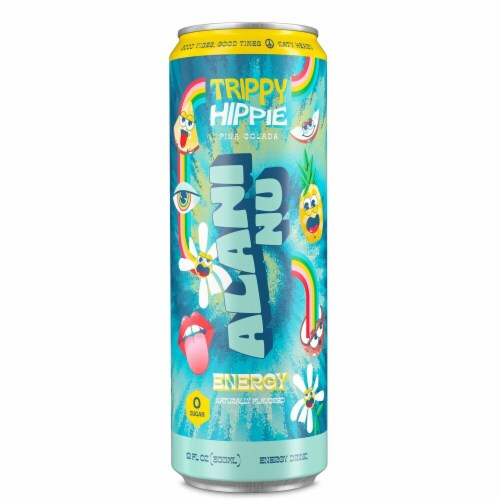 Alani NU Trippy Hippie Energy Drink Perspective: front