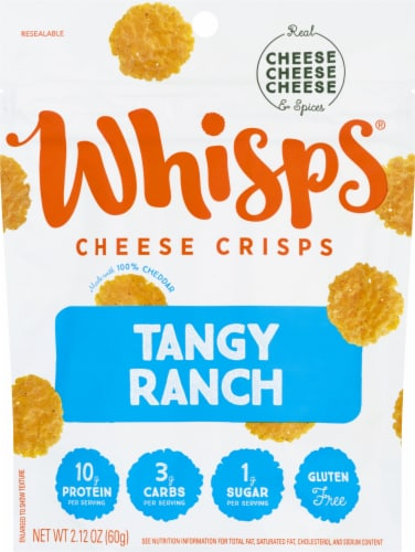Whisps Tangy Ranch Cheese Crisps Perspective: front