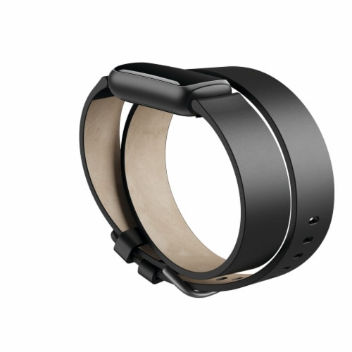 Fitbit Luxe Permium Horweek Leather Double Wrap Band Perspective: front