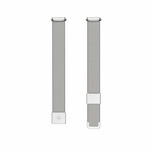 Fitbit Luxe Platinum Stainless Steel Mesh Band Perspective: front