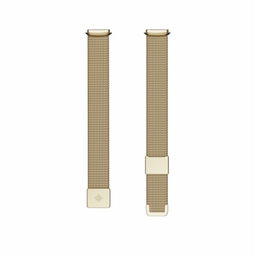 Fitbit Stainless Steel Mesh Bant - Soft Gold Perspective: front