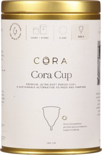 Cora Size 2 Period Cup Perspective: front