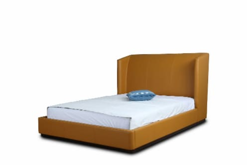 Manhattan Comfort Lenyx Saddle Queen Bed Perspective: front