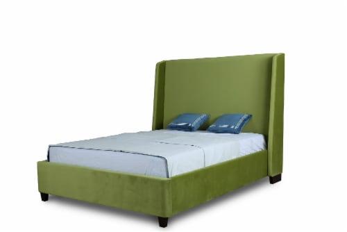 Manhattan Comfort Parlay Pine Green Queen Bed Perspective: front