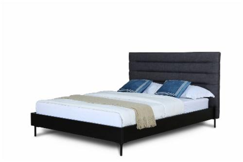 SCHWAMM QUEEN BED IN GREY Perspective: front