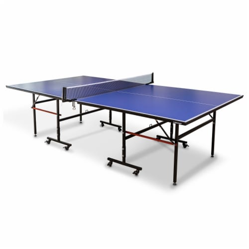HEAD 1-1-33012-DS 12 Millimeter Surface Match Point Ping Pong Table with Net Perspective: front
