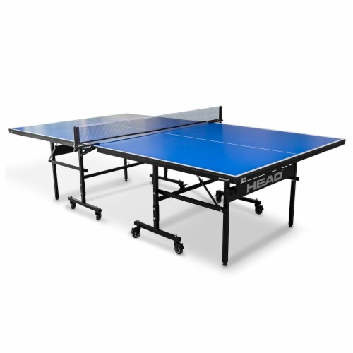 HEAD 15mm Surface Grand Slam Indoor Ping Pong Table Tennis with Net and Post Set Perspective: front