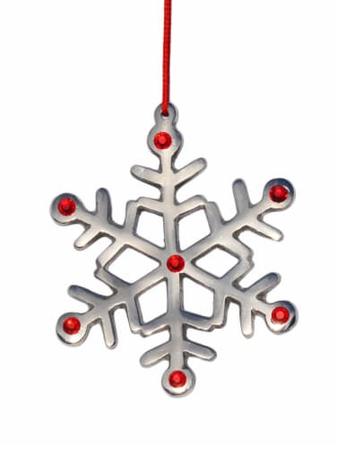 Vibhsa Handmade Christmas Snowflake Ornaments Perspective: front