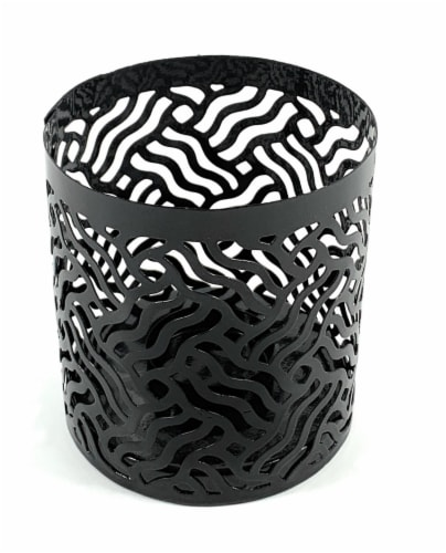 Vibhsa Votive Candle Holder - Black Perspective: front