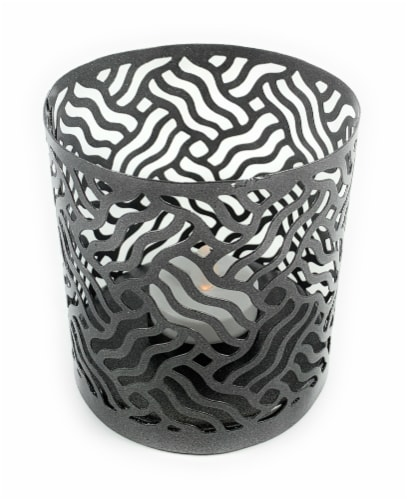 Vibhsa Votive Candle Holder - Gray Perspective: front