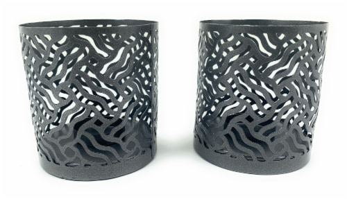 Vibhsa Votive Candle Holders 4 Pack - Gray Perspective: front