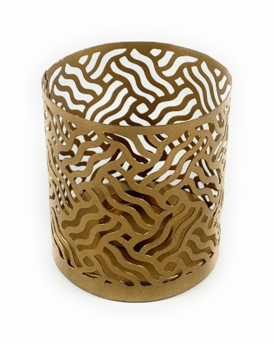 Vibhsa Votive Candle Holder - Gold Perspective: front
