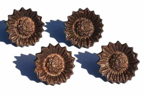 Vibhsa Antique Sunflower Napkin Rings Set Perspective: front