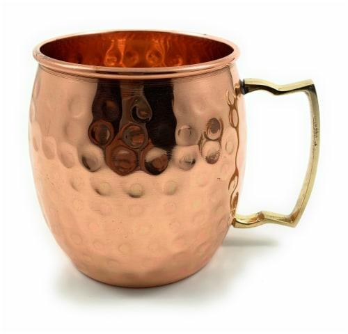 VIBHSA Copper Hammered Moscow Mule Mug Perspective: front