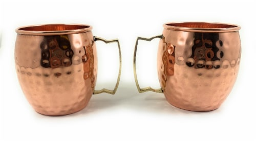 VIBHSA Copper Hammered Moscow Mule Mug 4 Pack Perspective: front