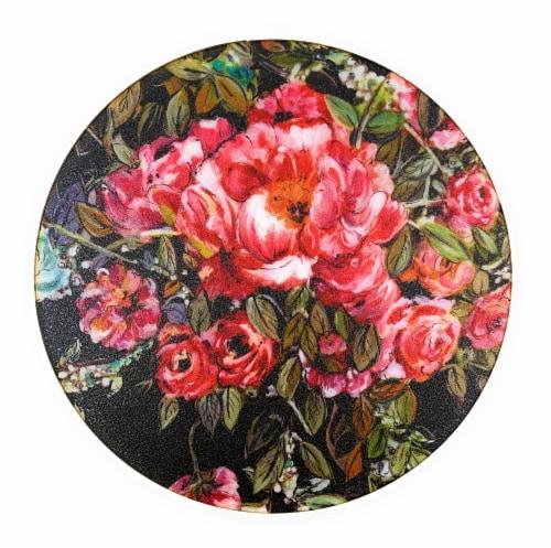 VIBHSA Designer Floral Cosmos Tea Coasters Perspective: front