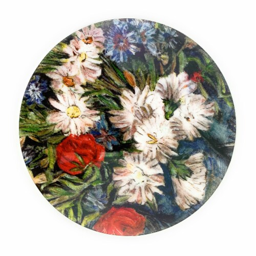 Vibhsa Designer Flower Delight Tea Coasters Perspective: front