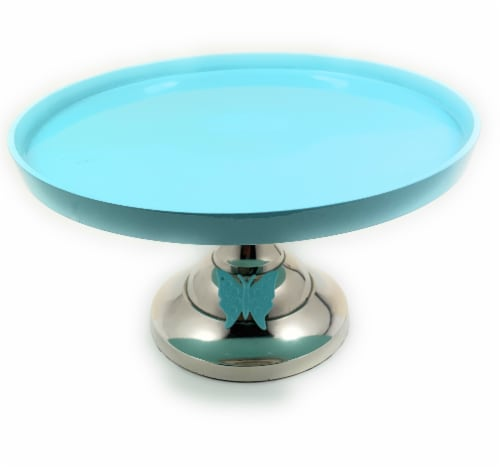 Vibhsa Butterfly Designer Cake Stand - Turquoise Perspective: front